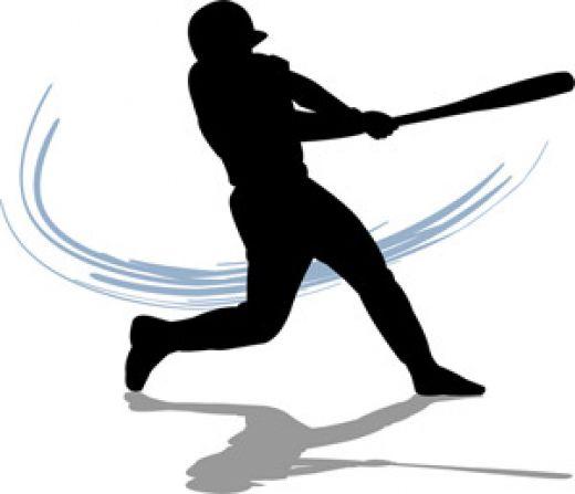 Man swinging bat has really
