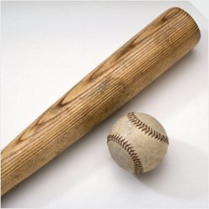 Wood softball bat